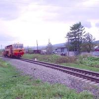 Перегон Христофоровка - Большая Елань вблизи пересечения с автодорогой, ведущей к аэропорту
