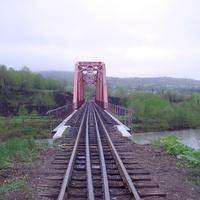 ЖД мост через реку Найба