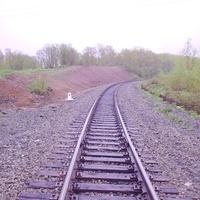 Перегон Долинск - Советское.