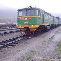 Станция Взморье. Тепловоз ТГ16-057