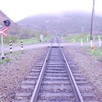 Станция Взморье. Начало перегона Взморье - Арсентьевка. 2006 год