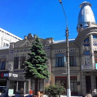 Черкаси.Будівля колишнього комерційного банку (1914 р),архітектор Владислав Городецький.