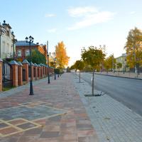 Талдом.Музей.Библиотека.Пешеходная зона.Фото Галина Асабина.