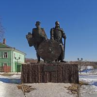 Памятник русским князьям - Рюрику и Олегу