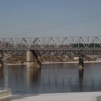Железнодорожный мост через реку Волхов