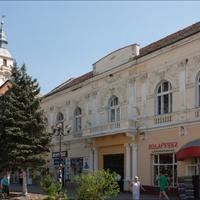 центр Берегово. Слева здания Реформаторский костел