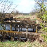 Останки старого моста. Река Пырянка