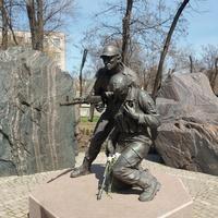 КРЭС. Памятник воинам-афганцам
