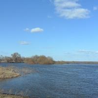 Ново Березово, разлив на реке Цна