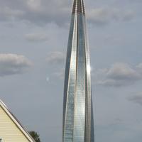 Башня газпрома...приобретает окончательный вид...