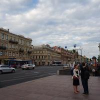 На Невском проспекте.