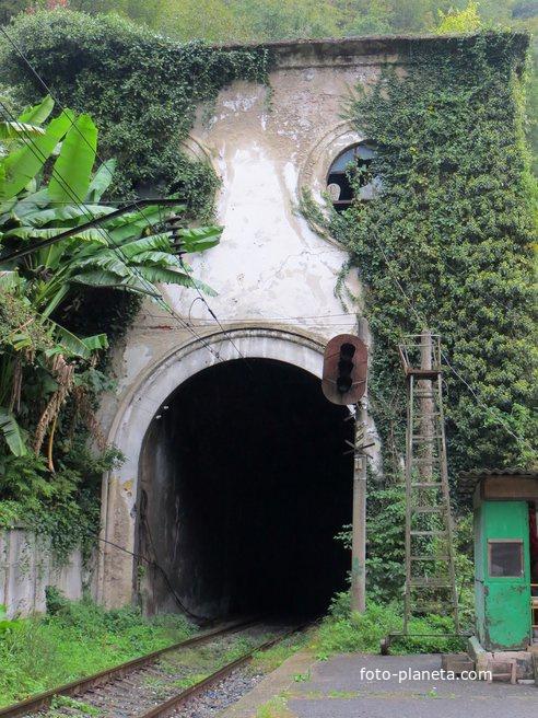 Тоннель рядом с платформой Псырцха