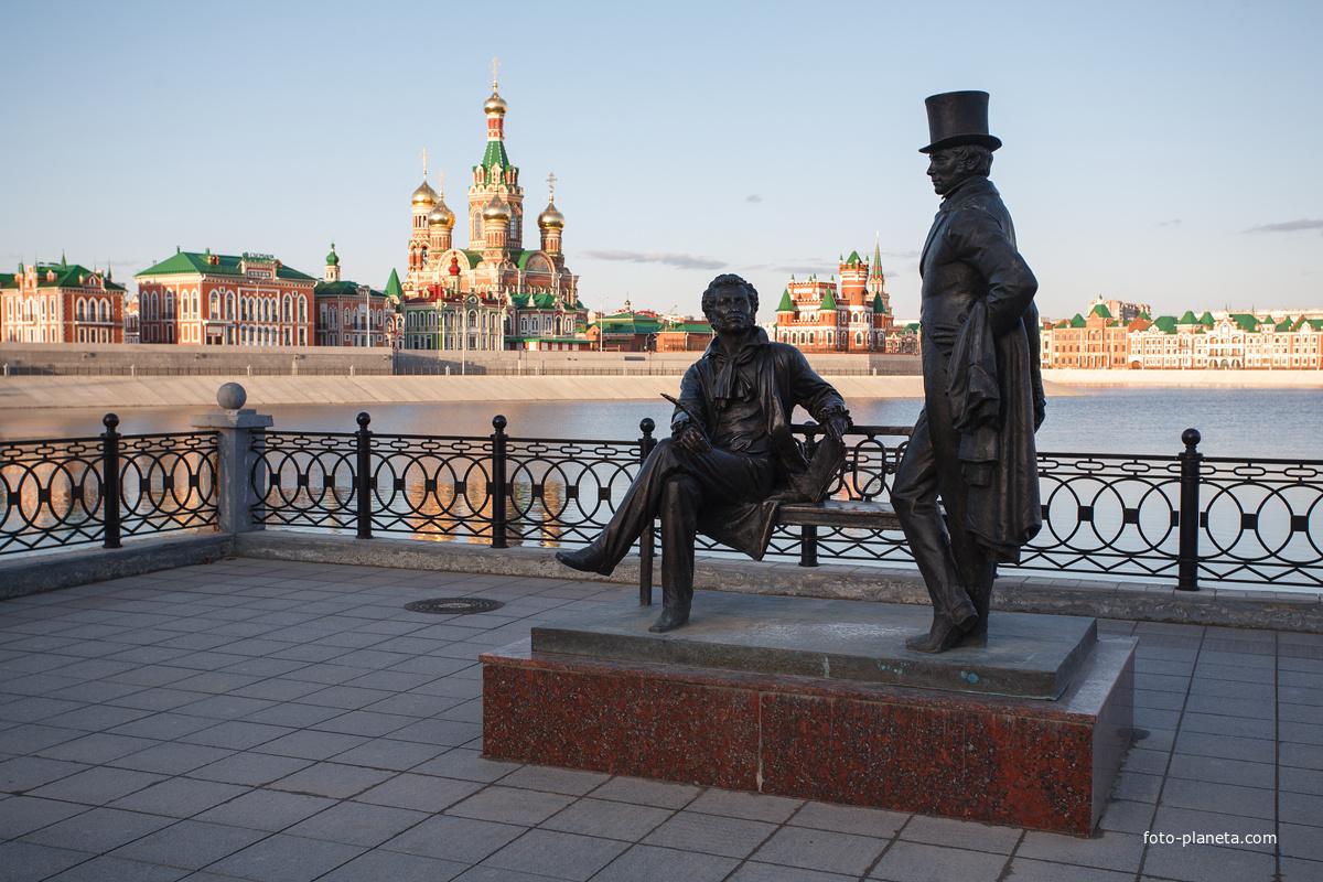 Памятник А.С. Пушкину и Евгению Онегину