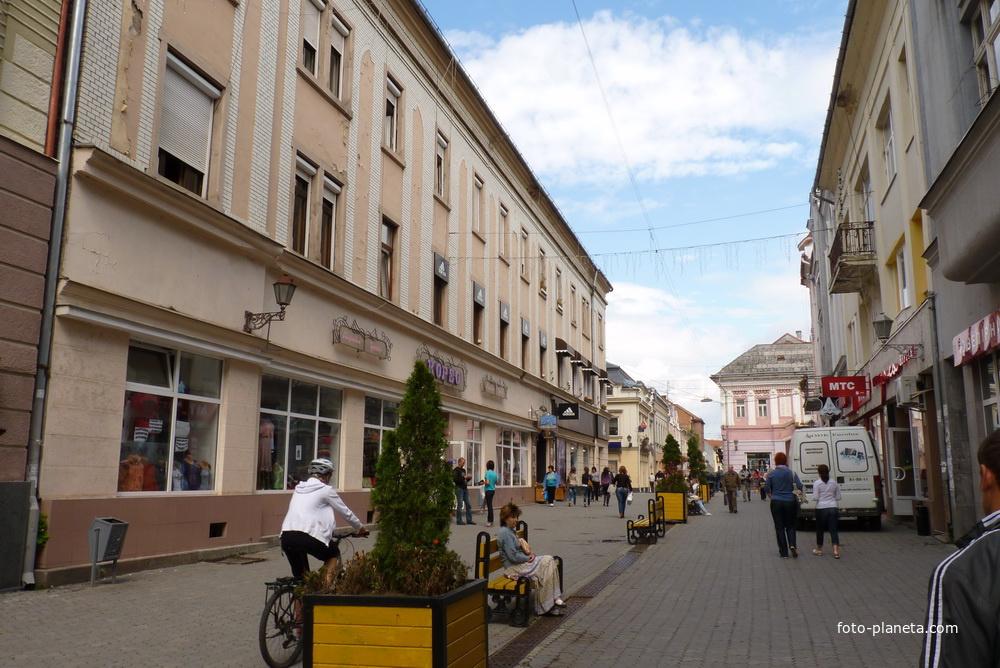 Улица в центре Ужгорода