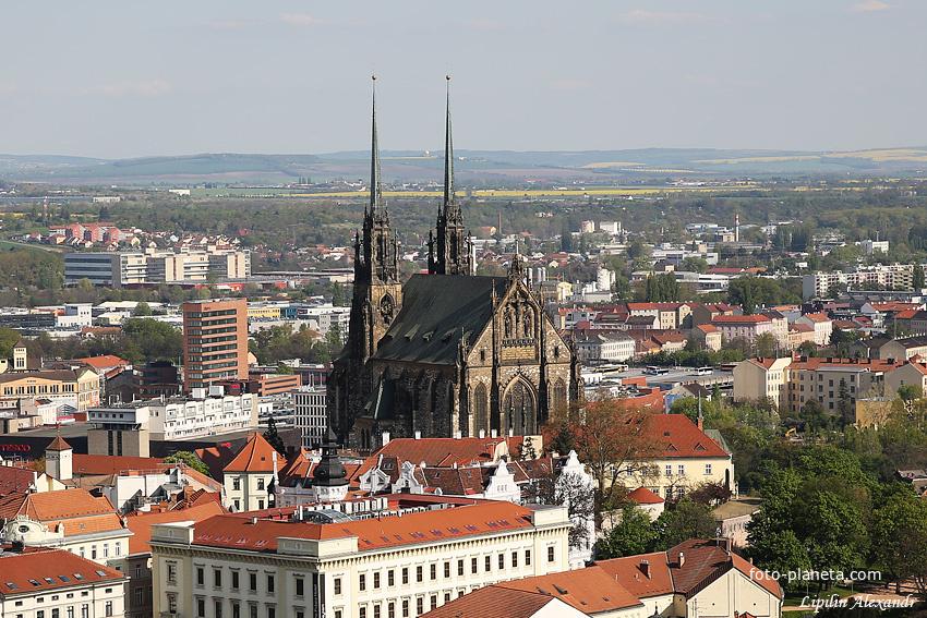 Вид на город и Собор святых Петра и Павла