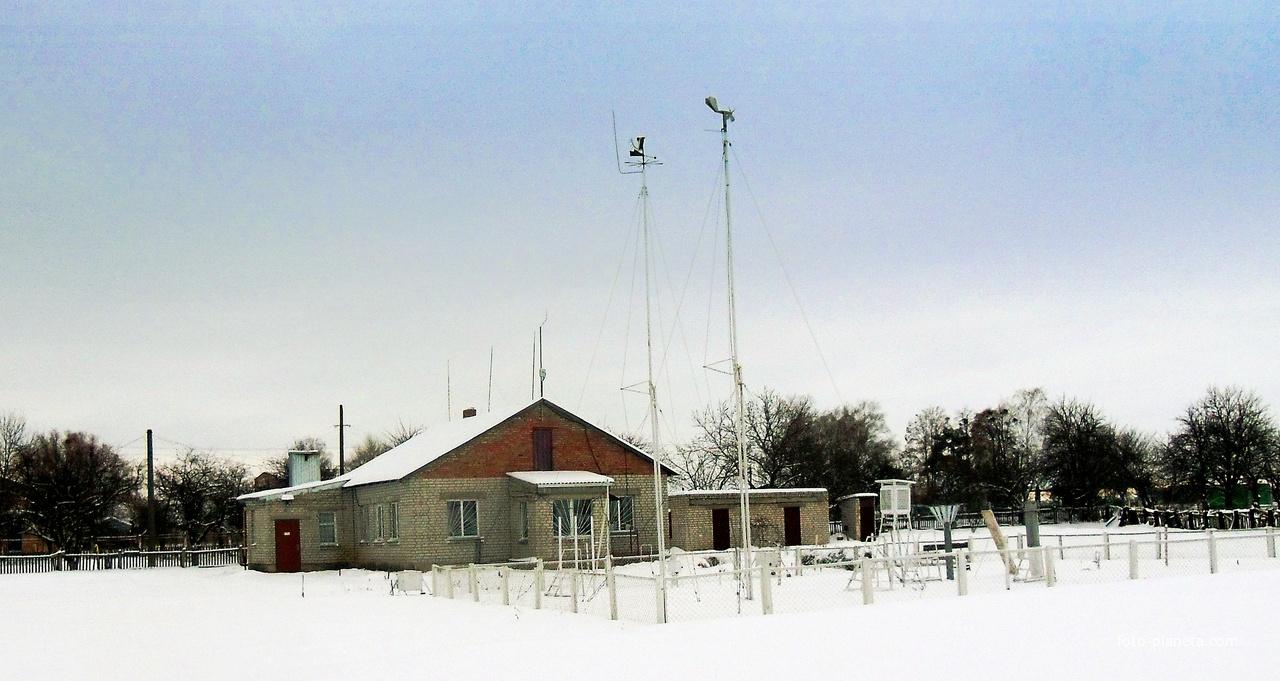Метеостанція Сміла,розташована в селищі Холоднянське.