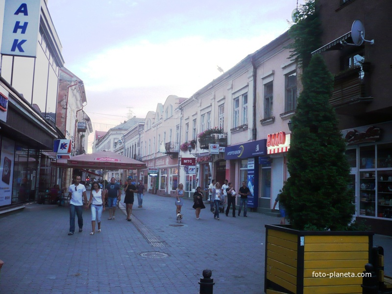 Улица в городе Ужгород
