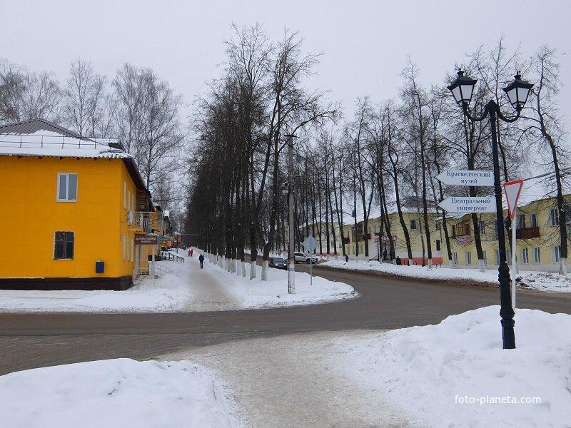 Улица в городе Суворов