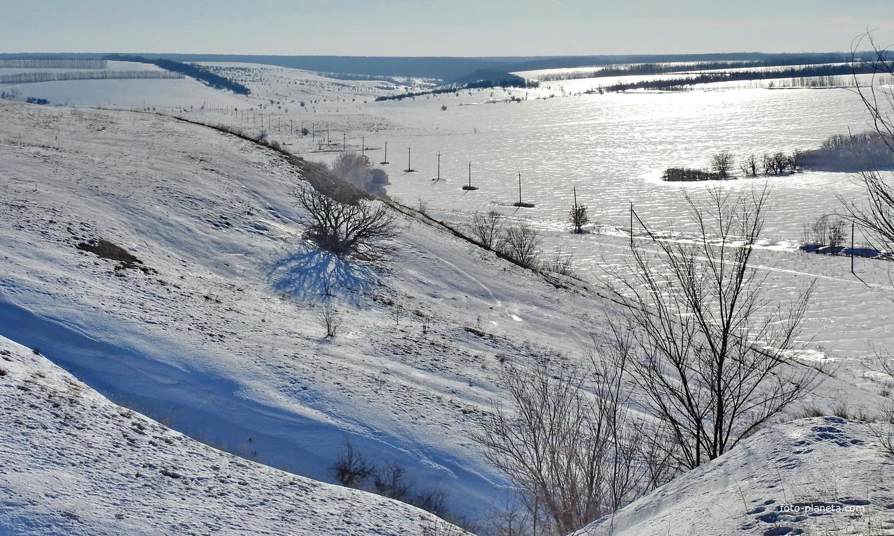 Меловой карьер, на горизонте Шипов лес