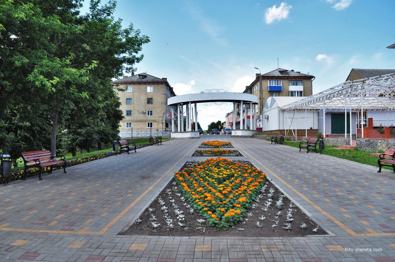 Центральный вход в городской парк. 2019.
