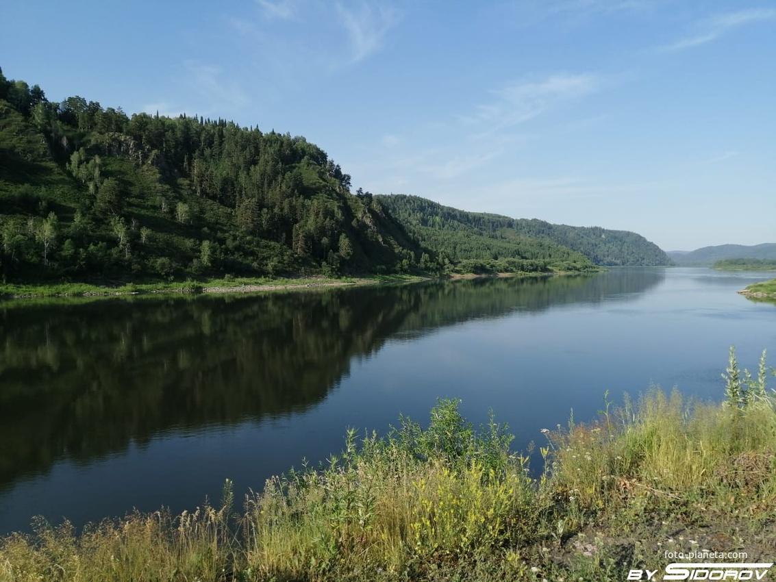Река Томь в окрестностях Зеленогорска