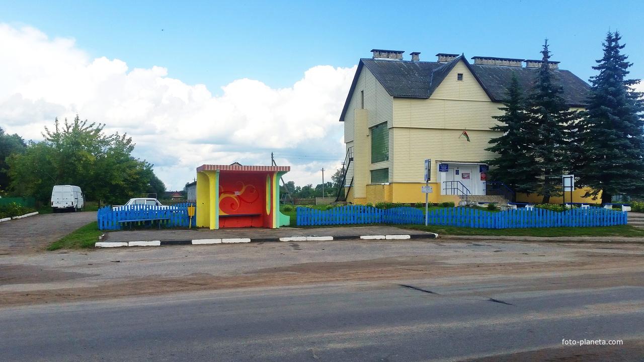Лапичи. Остановка на Гродянской улице.