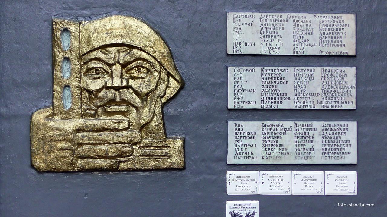Боровица. Списки воинов и партизан ,павших за освобождение Боровицы.