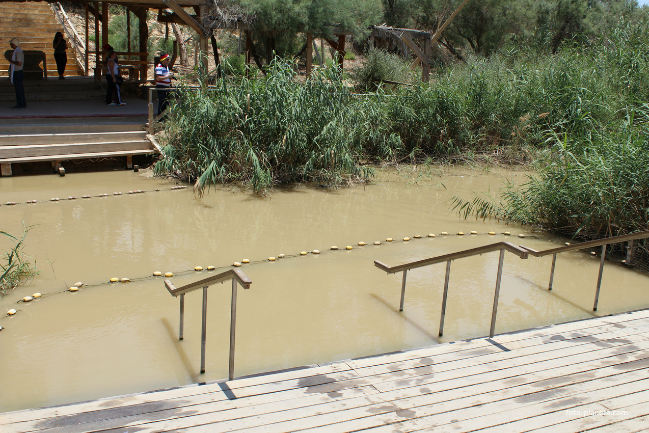 Река Иордан, Каср Эль Яхуд (Kasser Al-Yahud) - истинное место крещения Иисуса. (22.6.2018).