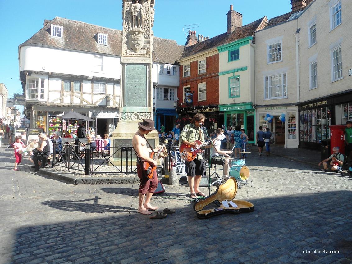 Уличные музыканты Canterbury