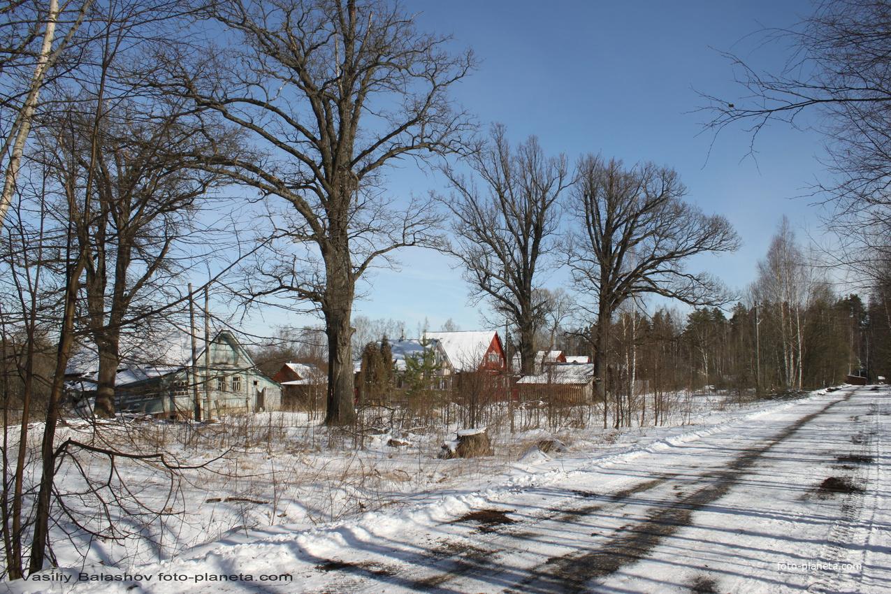 д. Пески, исторически застроенная часть деревни