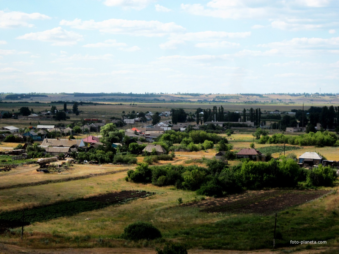 Каменка-Садовка. Вид с холма.