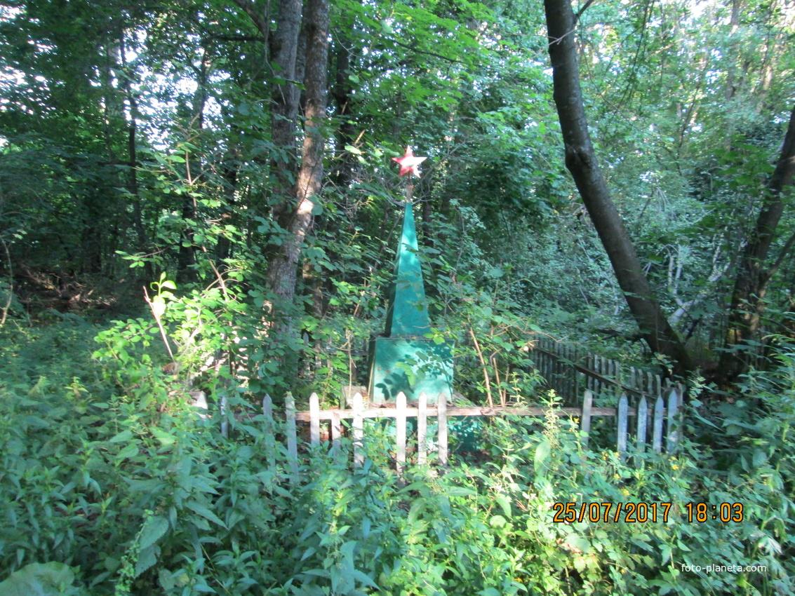 Лес у села Каликино. Памятник Михаилу Овчинникову, секретарю первой комсомольской организации, погибшему от руки бандита в 1932 году.