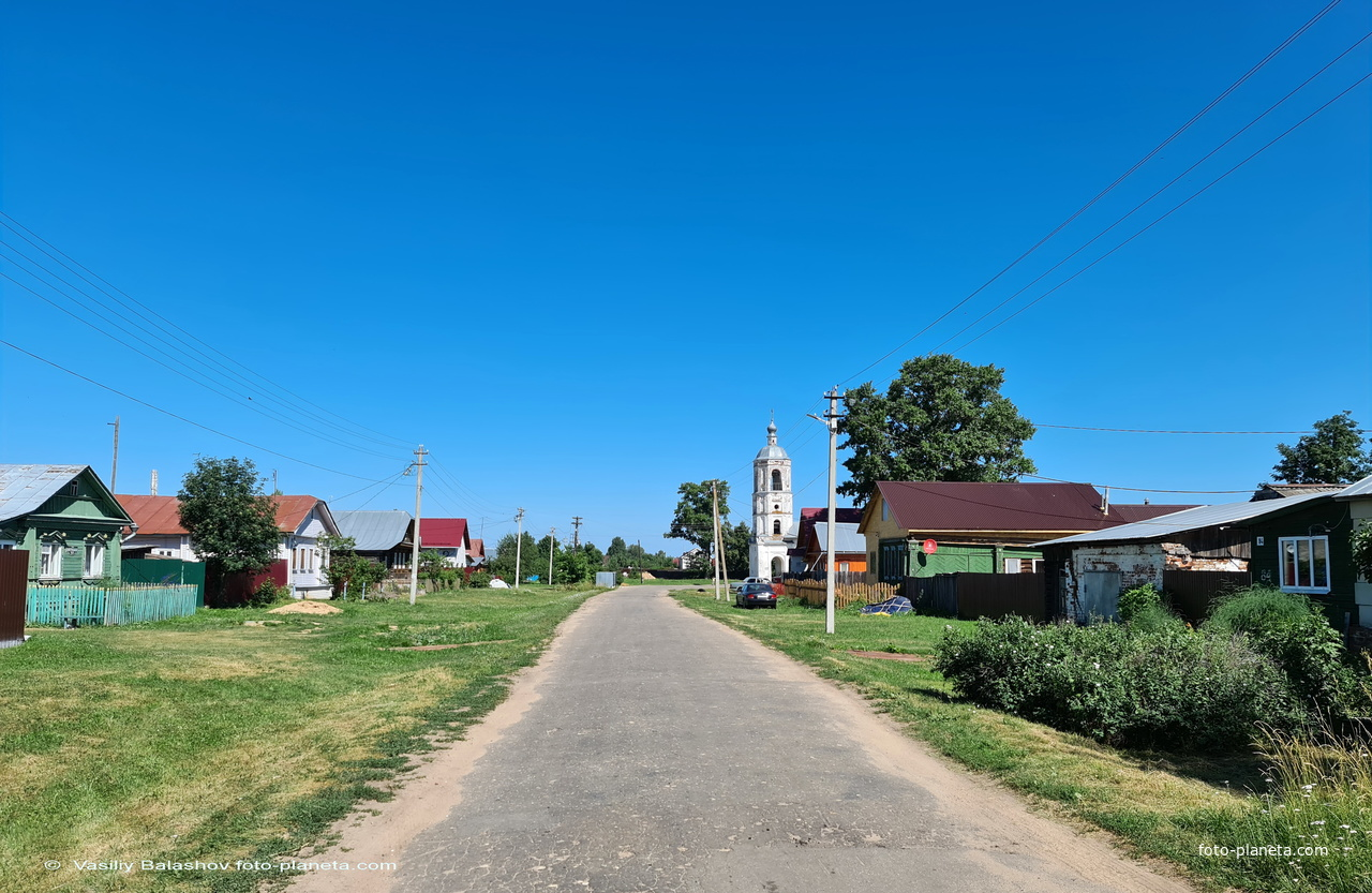 Омутское, Центральная улица