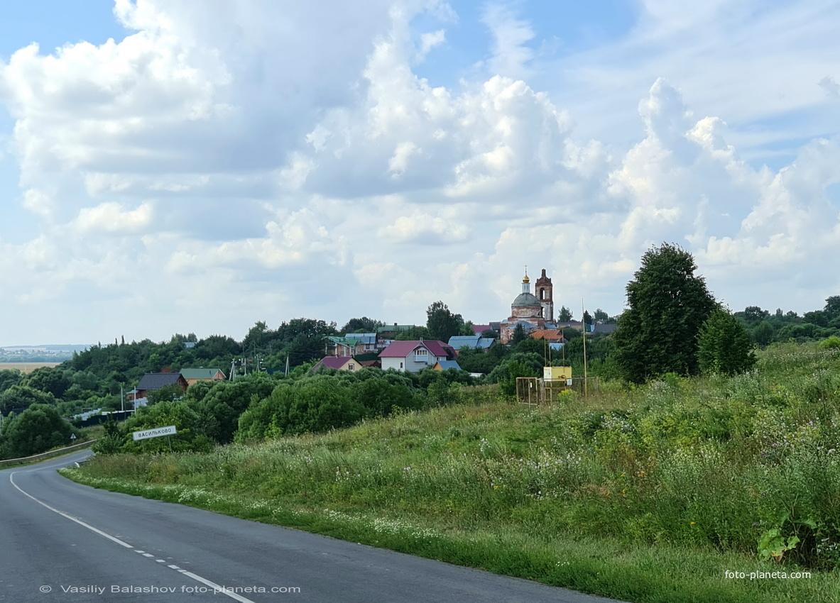 Панорама с. Василькова  с северо - востока