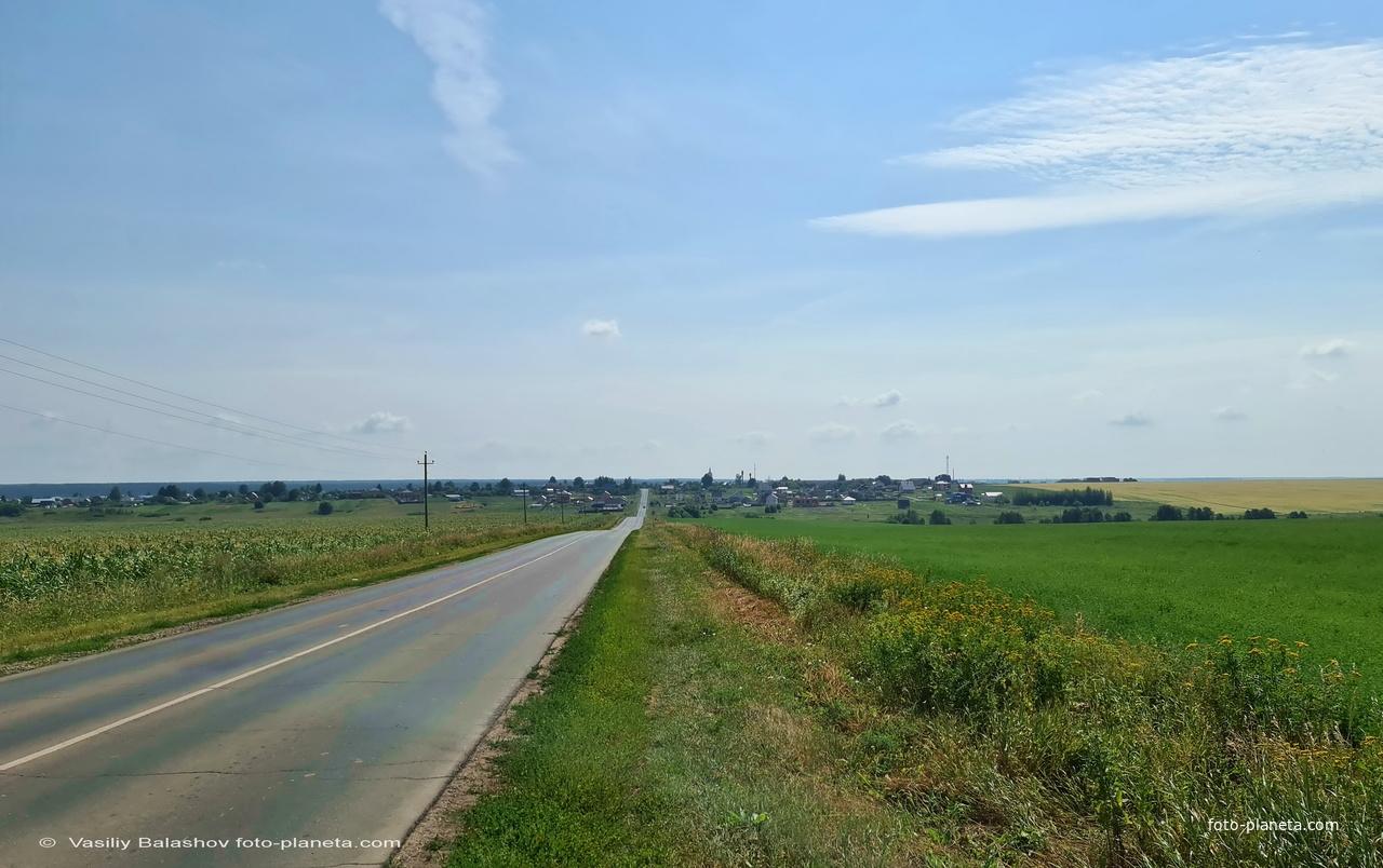 Панорама с. Порецкое, вид с запада