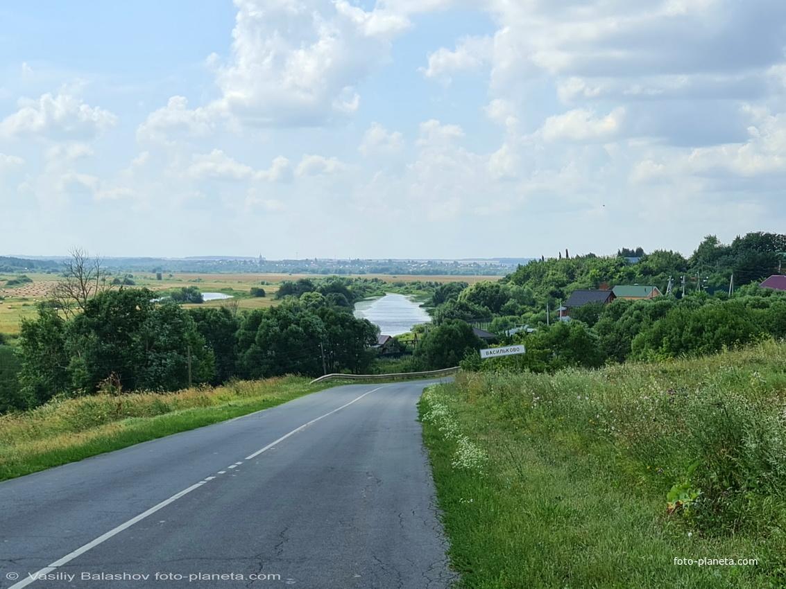 Панорама с. Василькова,  вид на р Нерль