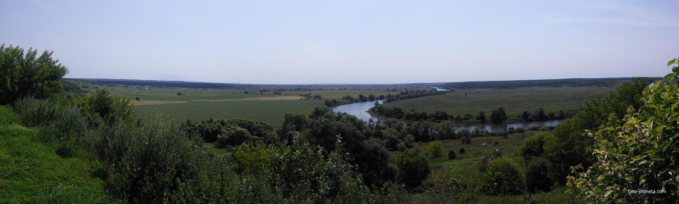 Вид на Оку из монастыря