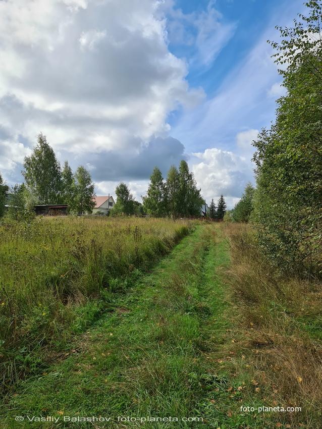 Антушово, дорога от деревни к часовне
