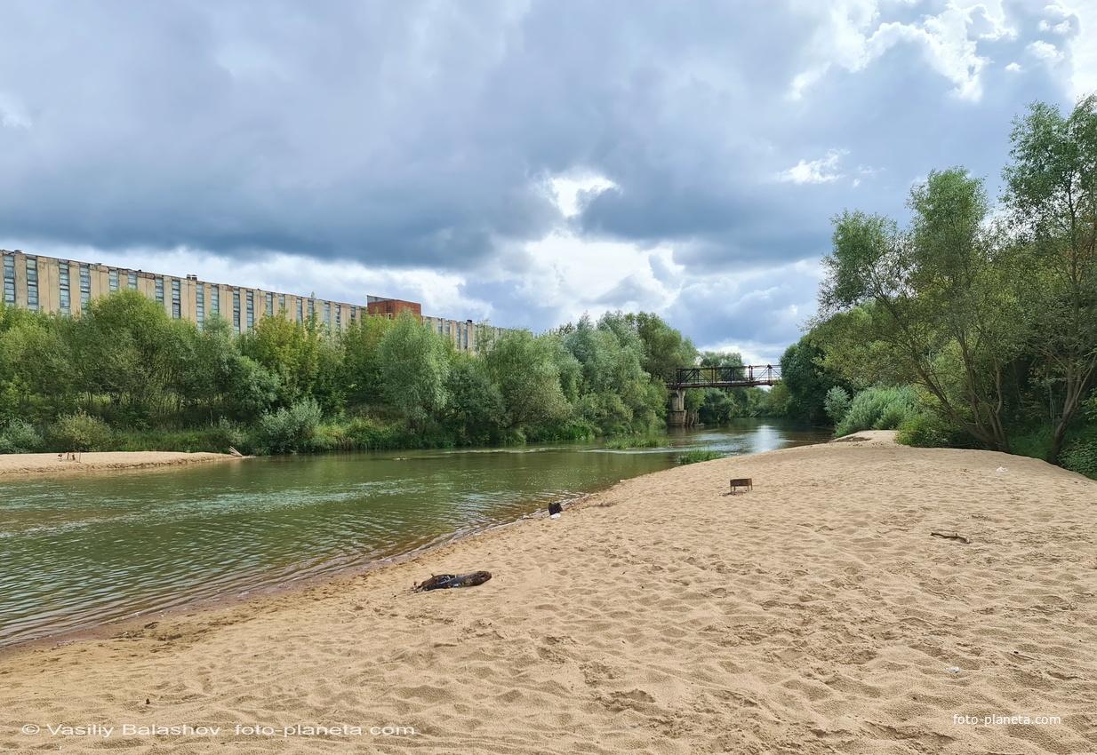 Река Киржач, городской пляж
