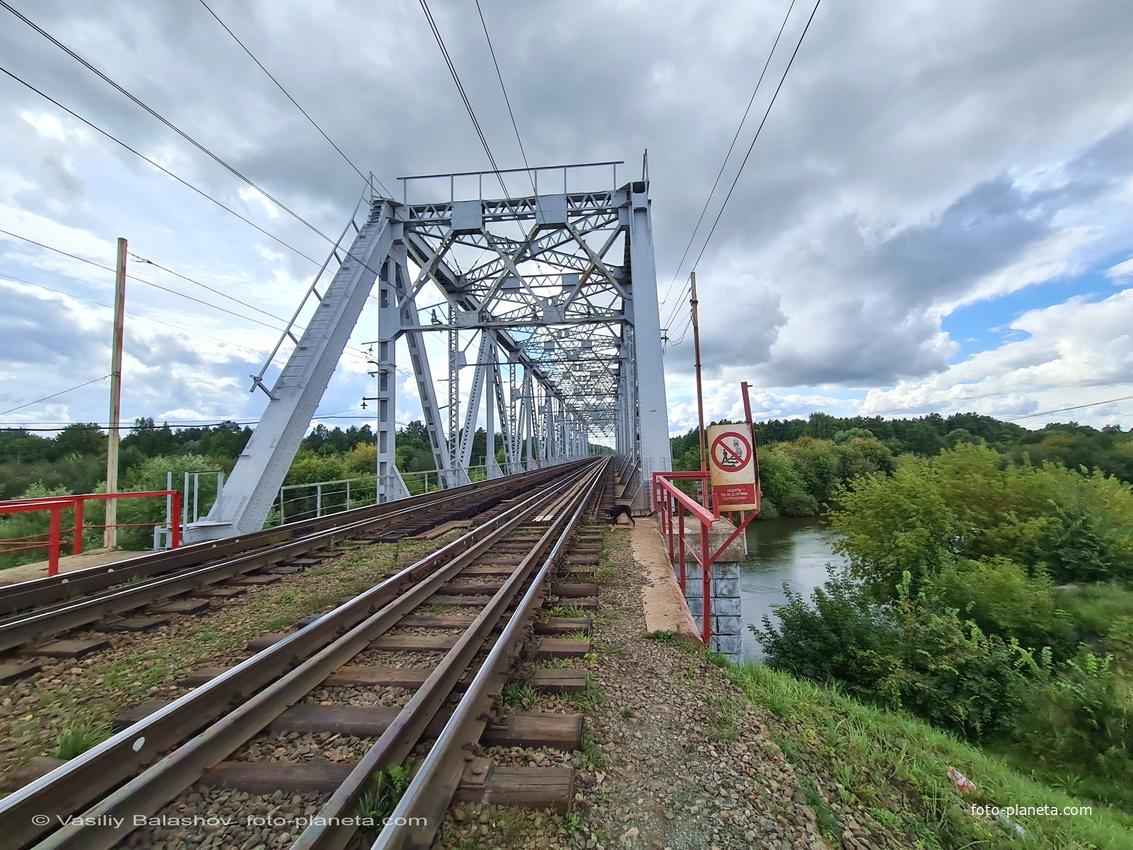 Мост через р. Клязьма Горьковской ж/д в окрестностях Городищ