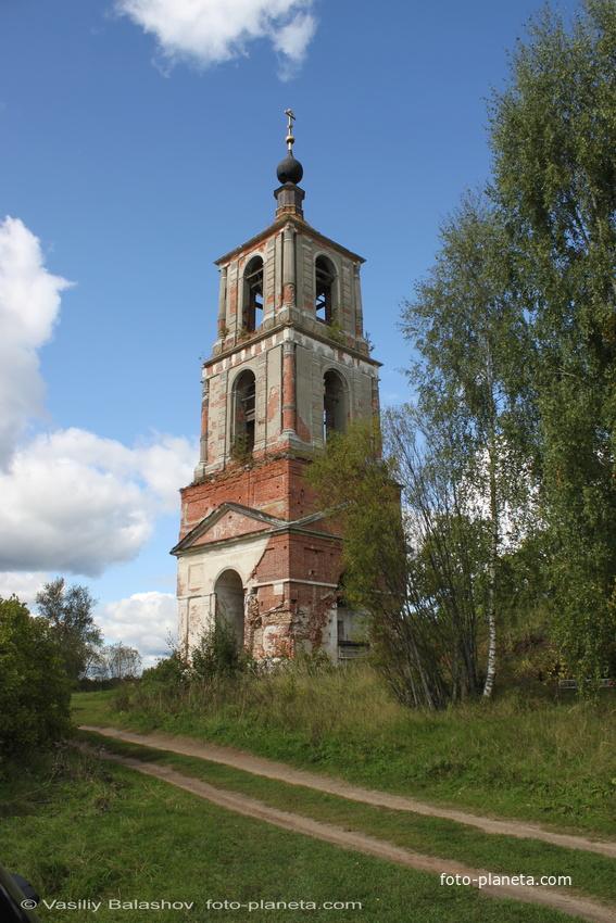 Колокольня церкви Николая Чудотворца  на Аргуновском погосте