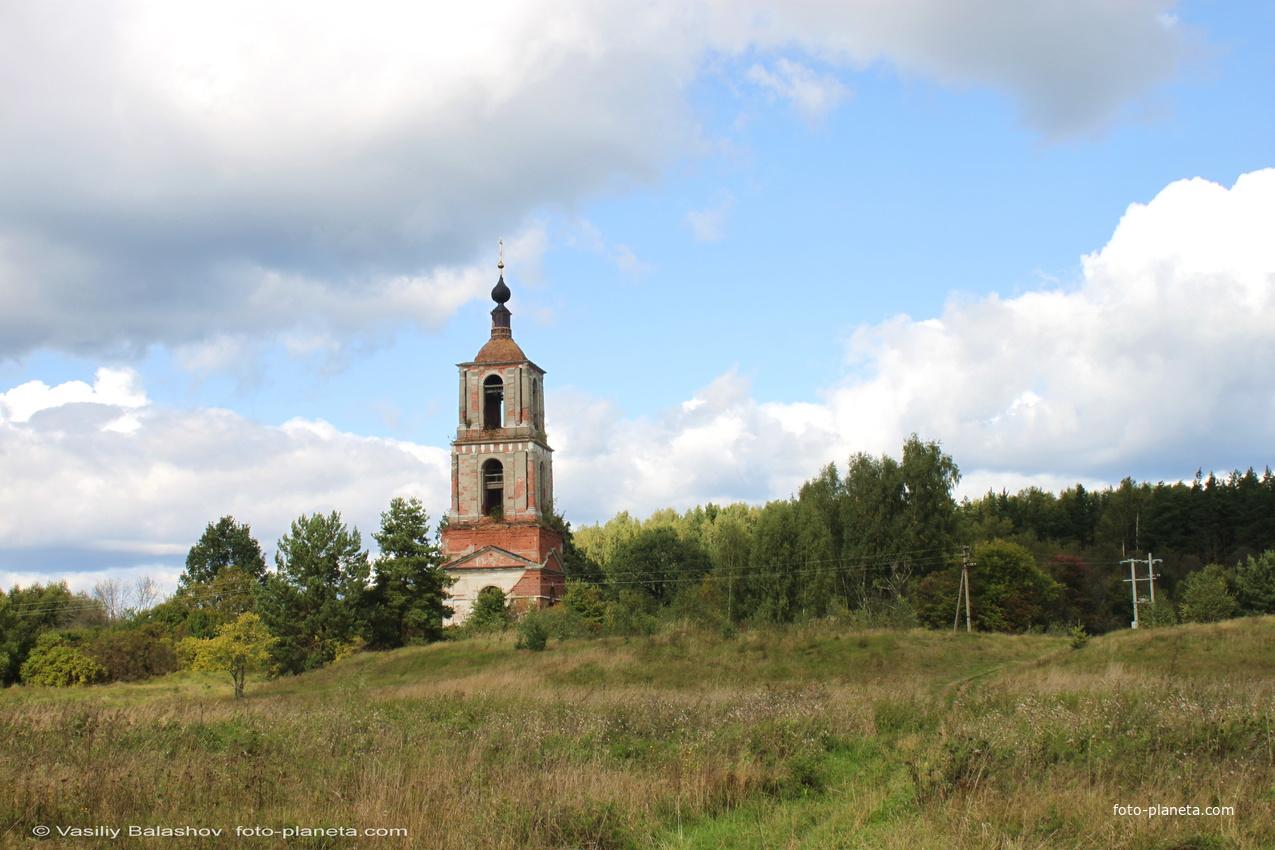 Урочище Аргуново,  вид на Аргуновский погост и Никольскую церковь