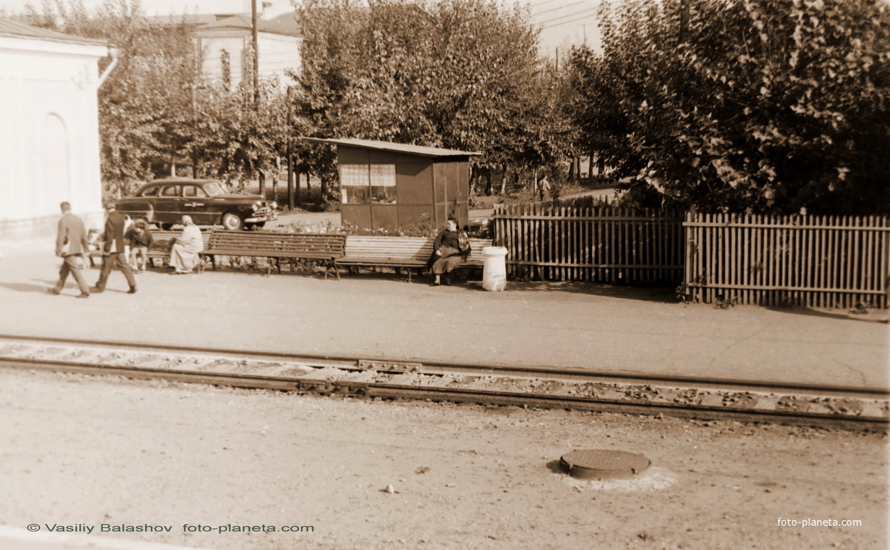 Петушки,  вид с платформы вокзала, 1967 г.