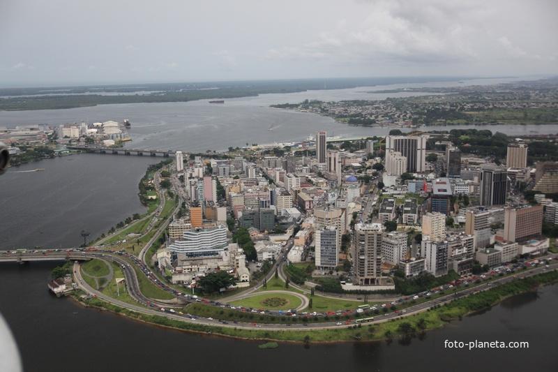 центр с высоти птичего полета | Абиджан (Кот-д'Ивуар)
