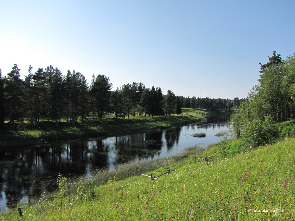 Река Вель п. Солгинский