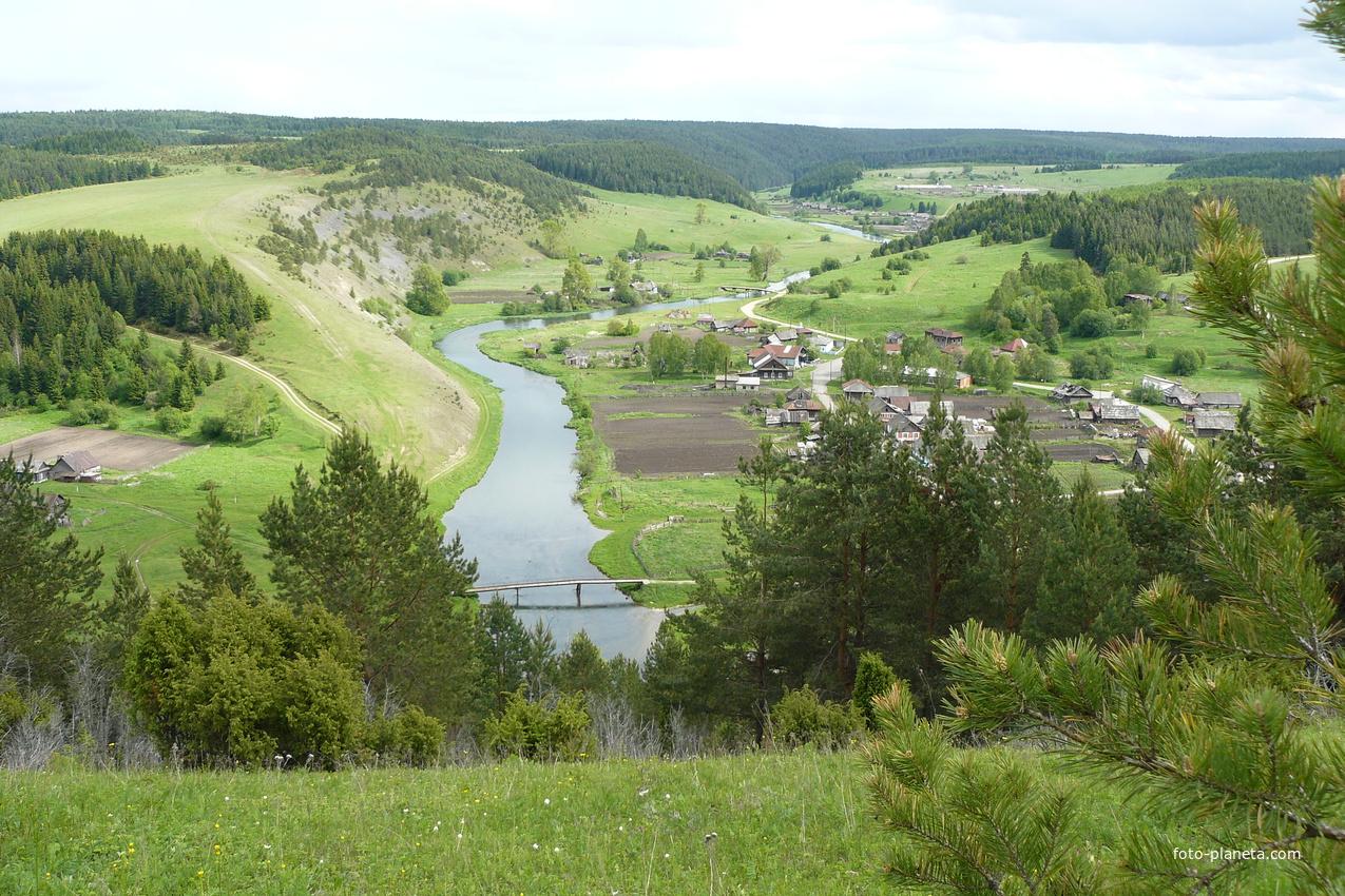 Вид на Красносоколье с Шипицыной горы.