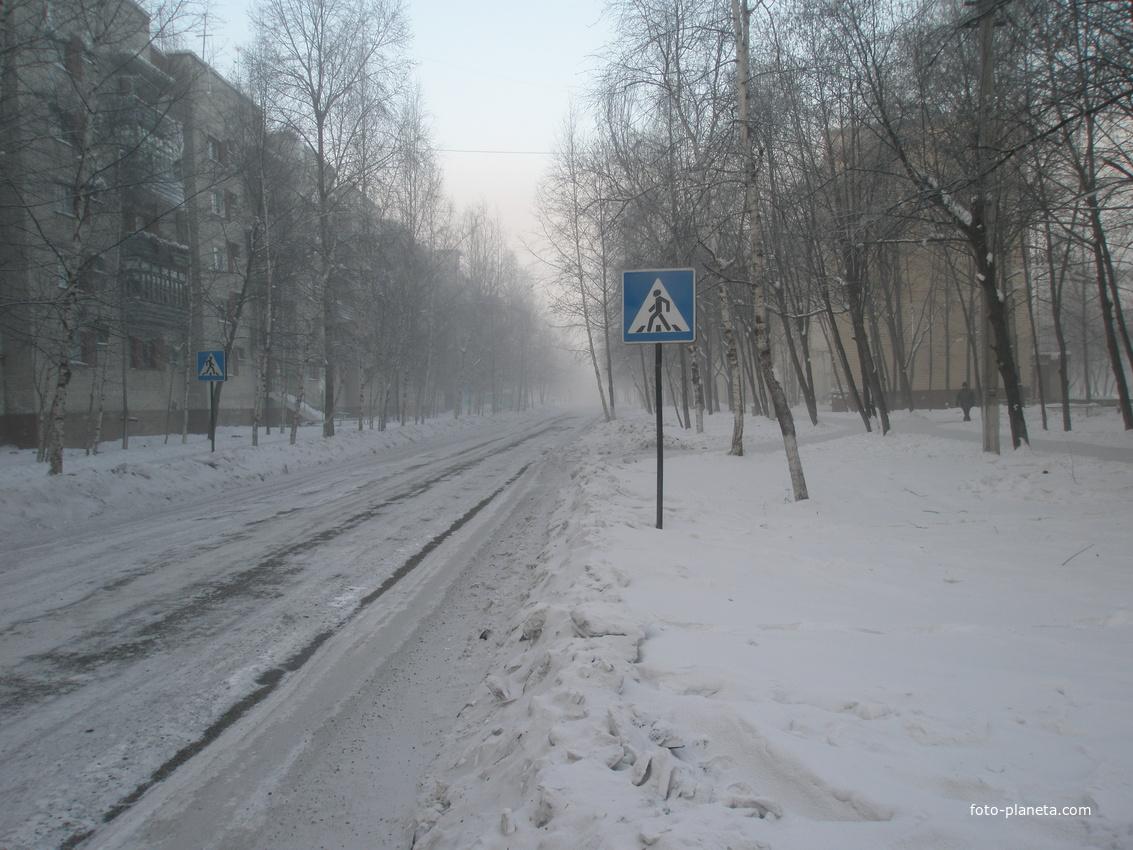 Улица Киевская, Январь 2011 г. Мороз - 44 гр.С.