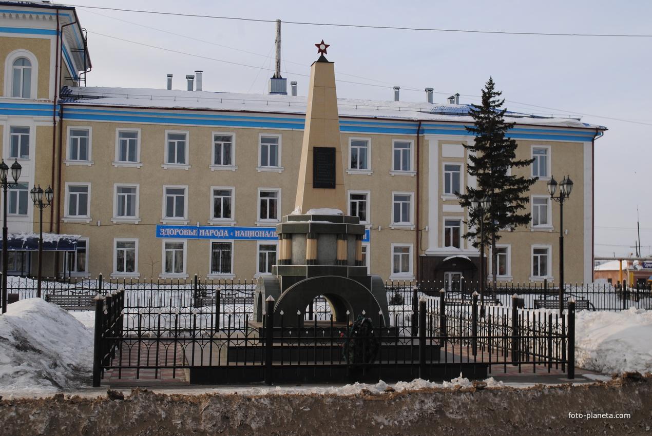 Памятник погибшим красноармейцам.