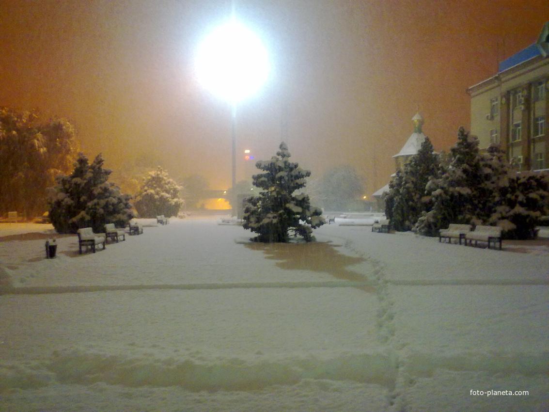 зима на азоте