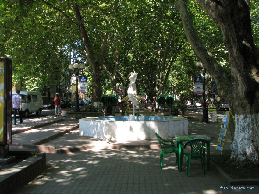 Платановая аллея на ул. К. Маркса